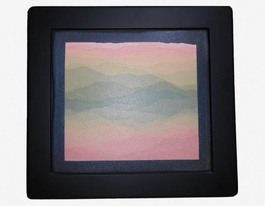 陶板額(遠山図)