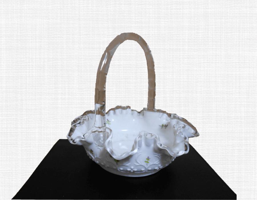 ガラス手つき鉢(飾り鉢)